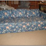 Blue Flowered Sofas