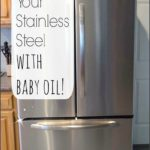 Cleaning Stainless Steel Refrigerator With Olive Oil