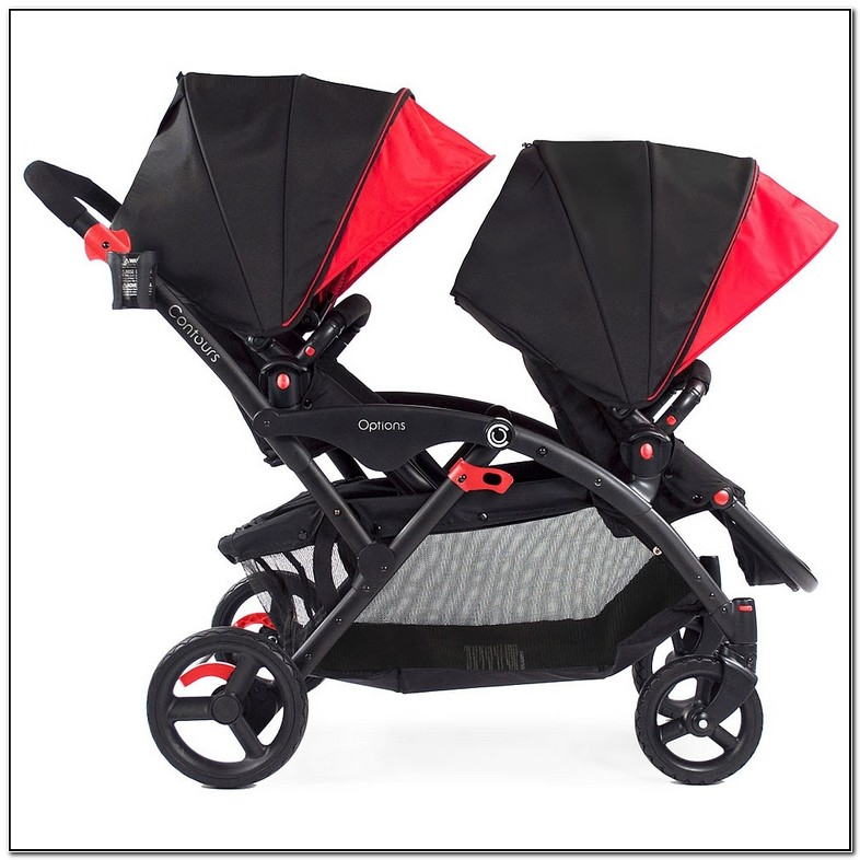 Contours Elite Double Stroller Red