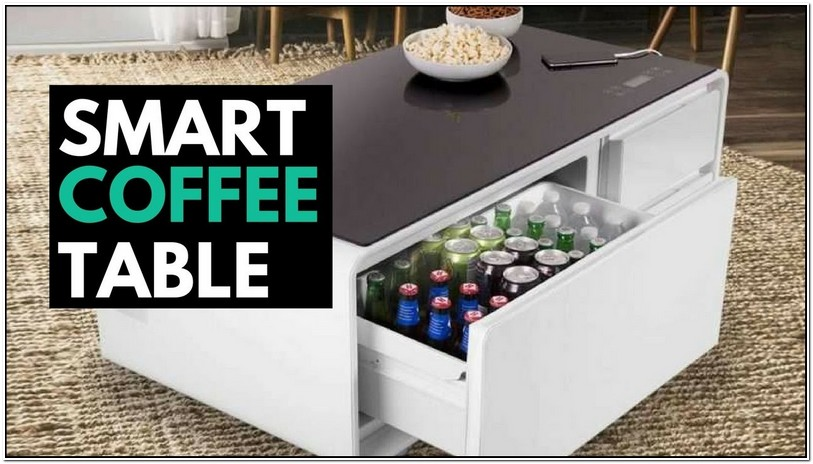 Coffee Table With Fridge Charging Ports