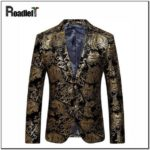 Black And Gold Suit Jacket
