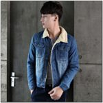 Denim Jacket With White Fur Collar Mens