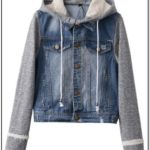 Hooded Denim Vest Womens