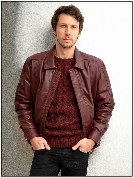 How To Wear Mens Burgundy Leather Jacket