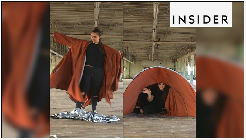 Jacket That Turns Into A Tent Microsoft Commercial