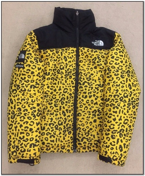 North Face Supreme Leopard Print Jacket For Sale
