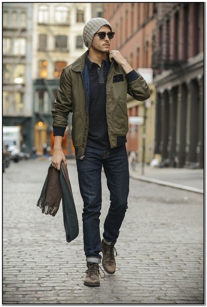 Olive Green Jacket Outfit Mens