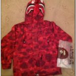 Red Bape Rain Jacket