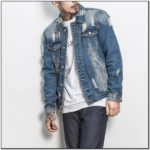 Ripped Jean Jacket Mens