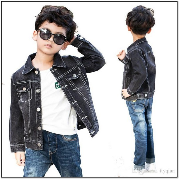 Toddler Boy Black Denim Jacket