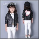 Toddler Girl Leather Jacket