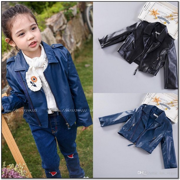 Toddler Girl Real Leather Jacket