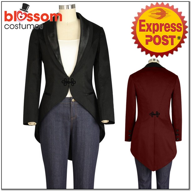 Womens Tuxedo Jacket With Tails Costume